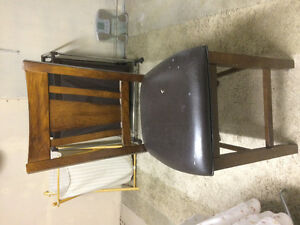 Pub Chair with Faux Learher Seat