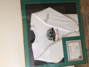 Riders Grey Cup 95 jersey & Certificate