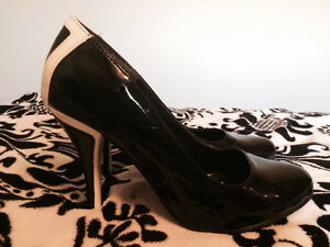 Black and White Heels from Le Chateau