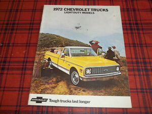 BROCHURE CAMION CHEVROLET PICK- UP ( 1972 )