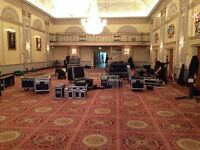 London Event Crew. Av Technicians, set carpenters and labours required (£8 - £12ph)