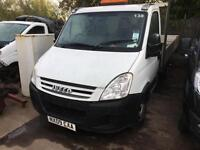 Iveco Daily 35C12 14 ft DROPSIDE SUIT SCAFFOLDING 2009 09 75000 MILES