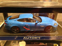 1/18 DIECAST AUTOART JAGUAR XKR-S FRENCH RACING BLUE NEW City of Montréal Greater Montréal Preview