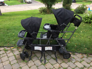 Double stroller with sit and stand