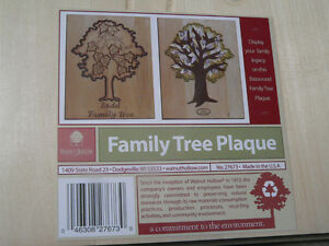 Family Tree Wood Plaque (lot of 4) Basswood by Walnut Hollow Kingston Kingston Area image 1