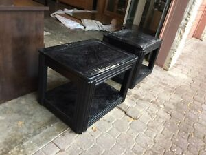 Matching Black End Tables (Need Repainting)