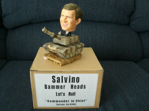 PRESIDENT (EX) GEORGE BUSH BOBBLE HEAD ON TANK LET'S ROLL