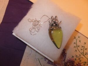 THIS IS A CUSTOM MADE AMBER PENDANT