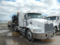 Mack WS Freightleiner, step decks , roll tites flat bed