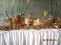 Candy table supplies