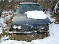 "1985 BMW 528E SGI WRITE OFF ""SELLING  FOR PARTS"" $200"