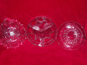 3 Clear glass pieces-3 for $20