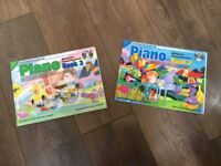 2 learn to play piano books both with CD