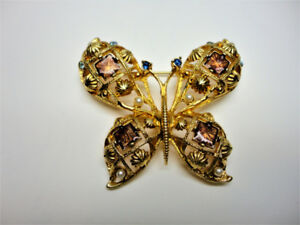 Jeweled Butterfly Brooch - REDUCED