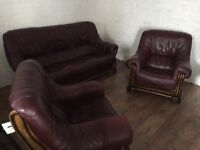 3+1+1 Genuine leather sofas, excellent condition