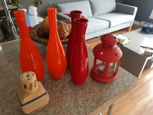 Décoration rouge orange