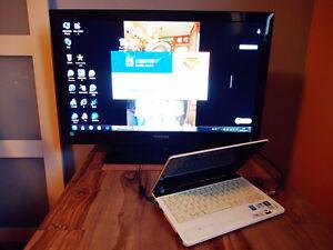 32'' Toshiba TV + 11'' Lenovo Laptop