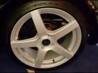"Ford 17x7""x40ET, 4stud,with Falken tyres."