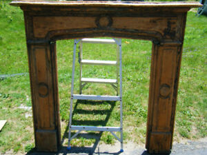 Old Solid Pine Fireplace Mantel Shabby Chic!