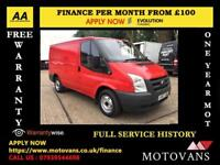 "2007""57"" Ford Transit 2.2 260S Low Roof Panel Van,1 OWNER, 60K (swb 280 300 MK7"