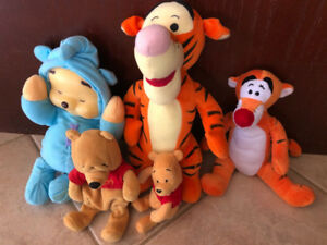 WINNIE THE POOH COLLECTION, TIGGER STUFFIES OR PLUSH TOYS