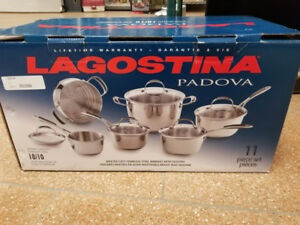Lagostina Padova 11 Piece Pot Set (Brand New)