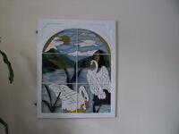 cadre de fenêtre avec faux vitrail