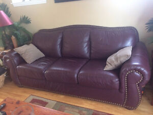 Pembroke Premier Leather Sofa and Love Seat
