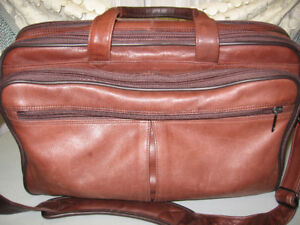 Heritage Kenneth Cole Brown Leather Computer Overnight Case