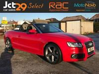 2011 AUDI A5 2.0 TDI S LINE CONVERTIBLE FINISHED IN BRIGHT MARS RED-BUY NOW PAY