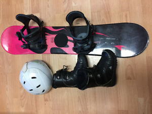 Kids snow board set(board/boots/helmet)