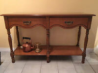 Dining room side table or sofa side table