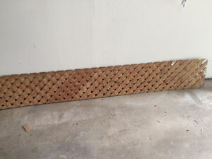 2 8' wood top of fence privacy lattice