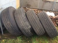 Lorry wheels and tyres