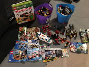 LEGO, toys and Xbox 360 Rock Band game with guitar - Moving sale