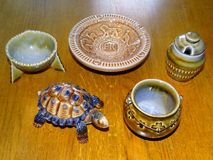 Wade Porcelain Lot, Made in Ireland, Coronation Turtle Jam Pot T