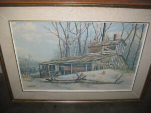 Colebrook painting 'Sugar Shack Near Forest Mills'