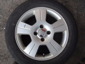 4 MAGS 16 INCH FORD FOCUS 4X108 WITH TIRES 205 55 16 SUMMER ETE