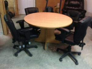 Office Table  and Four Chairs