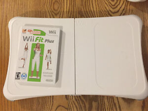WII FIT PLUS AND BOARD