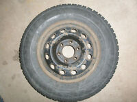 Set of 4 Studded Winter Tires on Rims