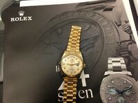 Rolex... Hublot.. Cartier... Patek buyer of Swiss watches!!!