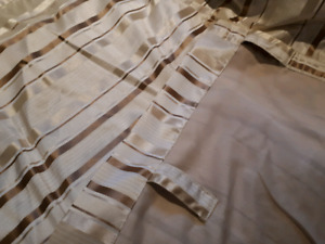Curtain set brown/ taupe