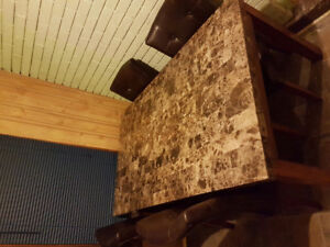 Table&chair set/matching bar cabinet