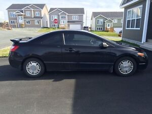 2008 Honda Civic Coupe (with winter tires)