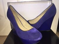 Size 5 suede wedges