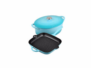 NEW - Denby - Cast Iron 3-Piece Cookware Set - Azure (AZURE-3PC)