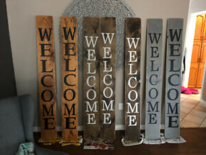Homemade Welcome Signs