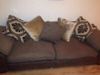DFS FEATHER BACKED CUSHIONED SOFA 4&3 SEATER