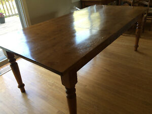 Solid Pine handcrafted harvest table with extension leaf Cambridge Kitchener Area image 3